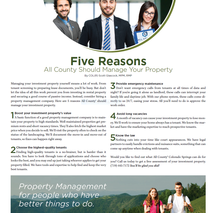 Five Reasons All County Should Manage Your Property